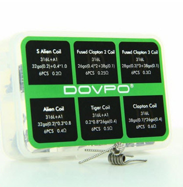 DOVPO 6in1 316L COIL BOX 36 COILS